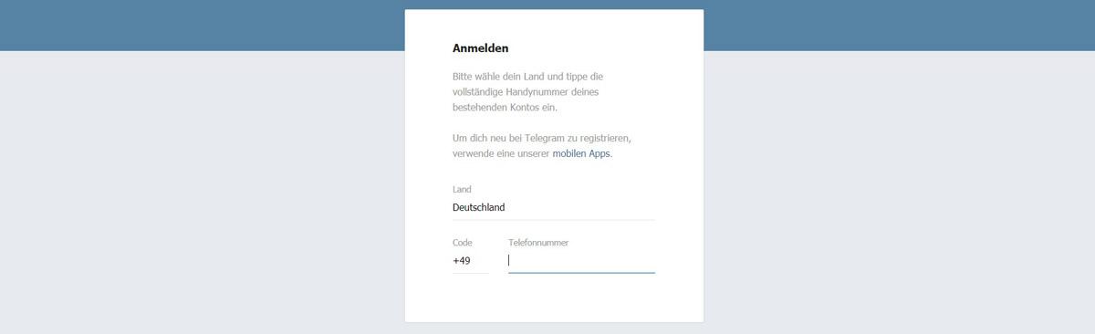 Telegram Web - Online Login (Bild: Freepik)